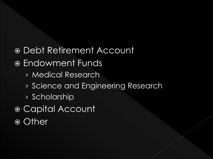 Debt Retirement Account