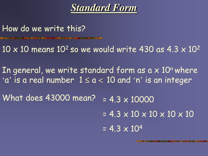 Ppt Standard Form Powerpoint Presentation Id5917743