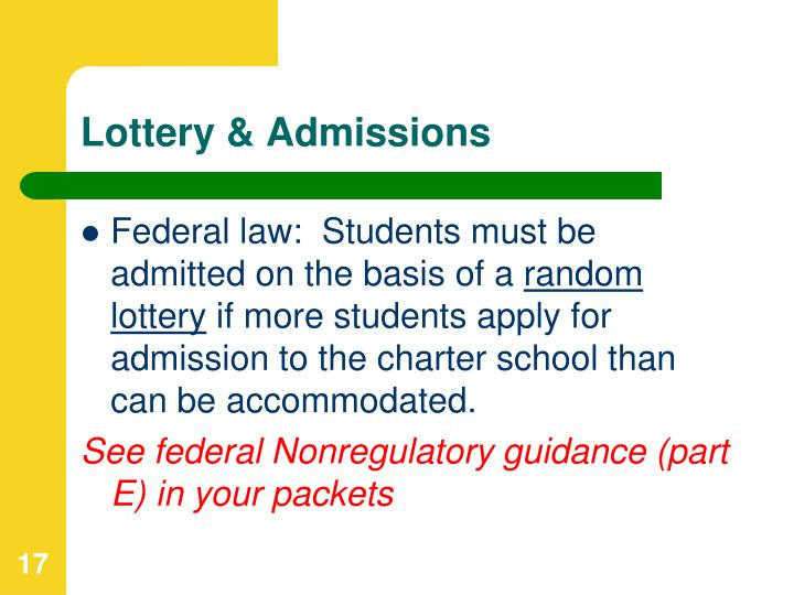 Lottery & Admissions