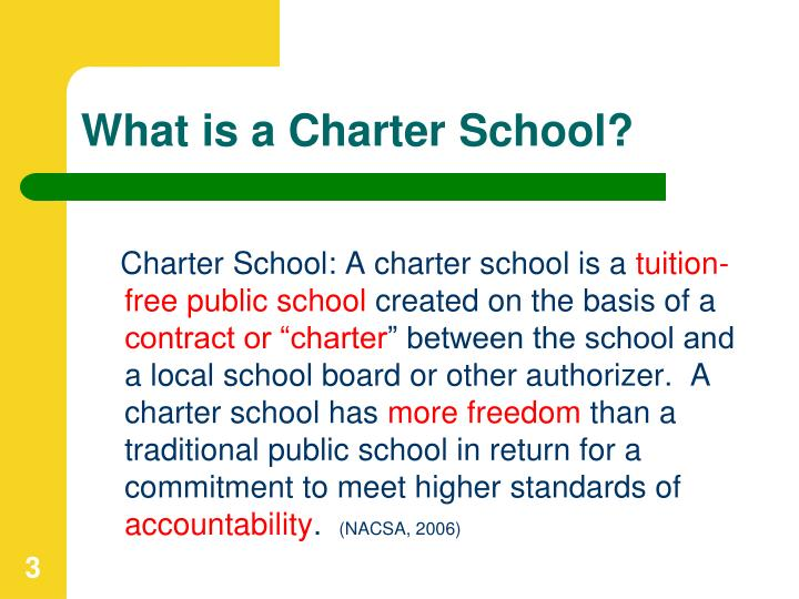 What is a charter school