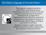 the pattern language of concrete pavers1