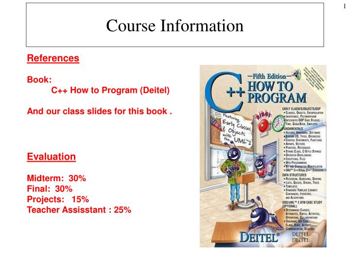 course information n.