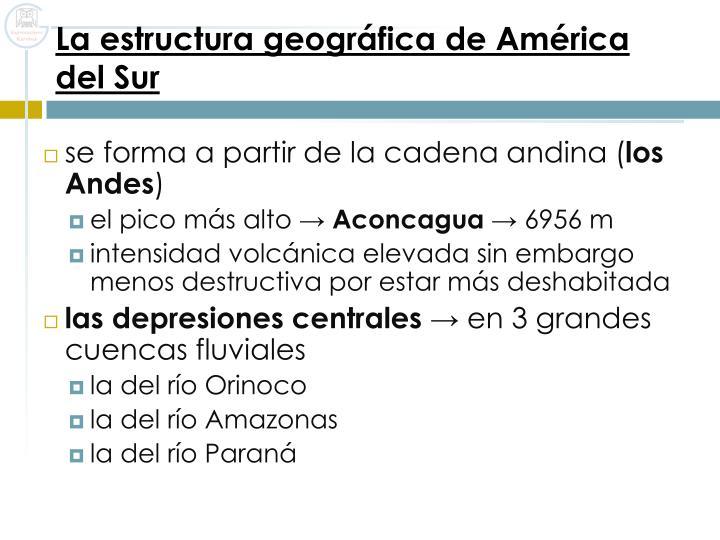 La estructura geográfica de América del Sur