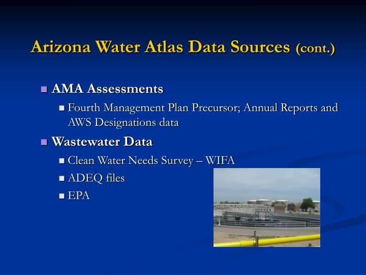 Arizona Water Atlas Data Sources