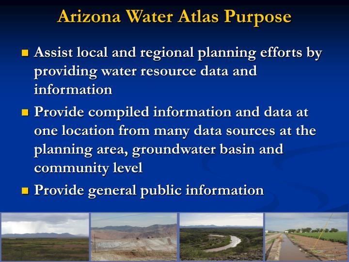 Arizona water atlas purpose