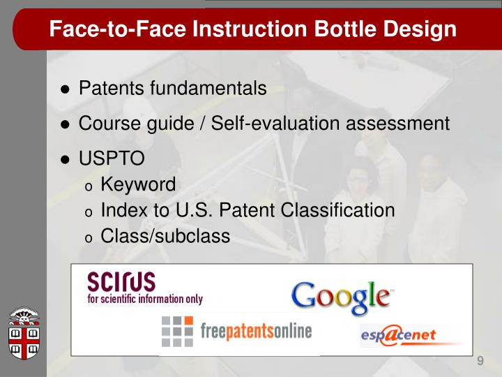 Face-to-Face Instruction Bottle Design