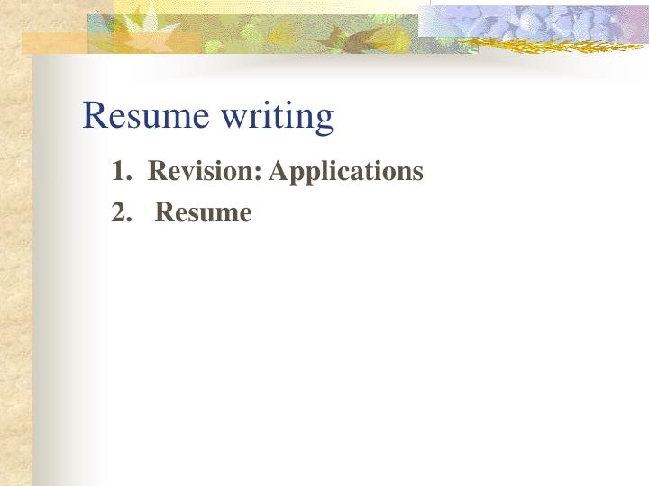 Attractive Resume Writing