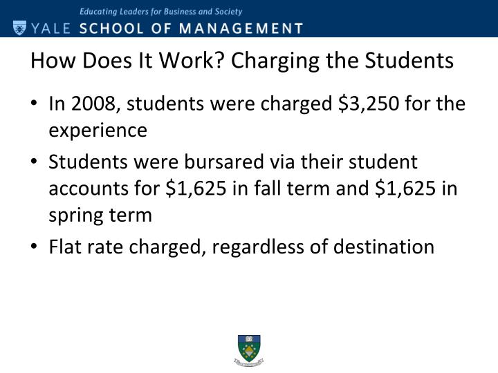 How Does It Work? Charging the Students