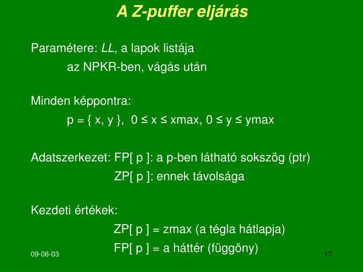 A Z-puffer eljárás