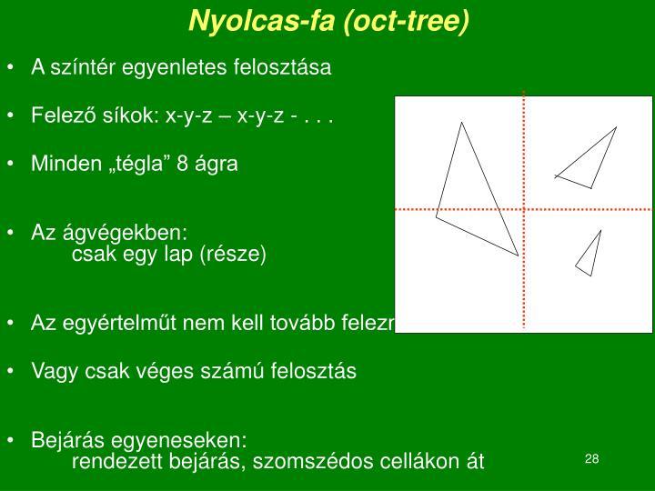 Nyolcas-fa (oct-tree)