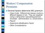 workers compensation premiums