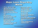 major laws regarding waste