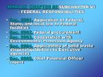 title 42 chapter 82 subchapter vi federal responsibilities