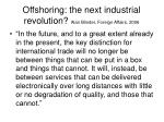 offshoring the next industrial revolution alan blinder foreign affairs 2006