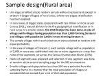 sample design rural area