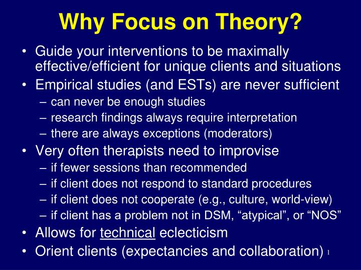 why focus on theory n.