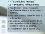 4 scheduling process 4 1 procesos homogeneos