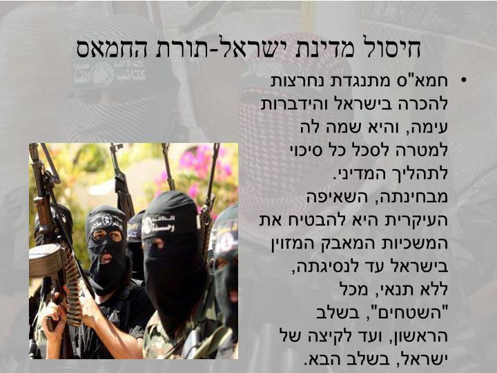 חיסול מדינת ישראל-תורת החמאס
