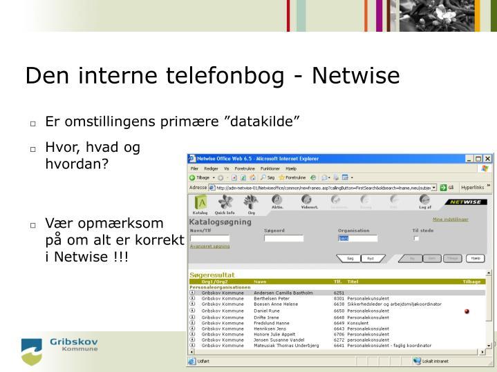 Den interne telefonbog - Netwise