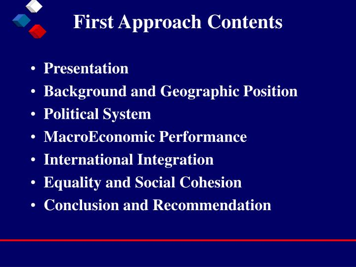First approach contents