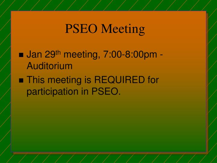 PSEO Meeting