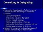 consulting delegating