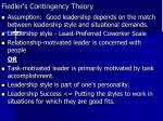 fiedler s contingency theory