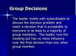group decisions