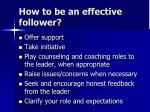 how to be an effective follower