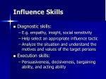 influence skills