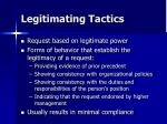 legitimating tactics