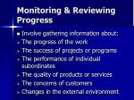 monitoring reviewing progress