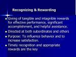 recognizing rewarding