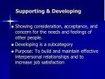 supporting developing