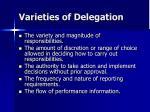 var ieties of delegation