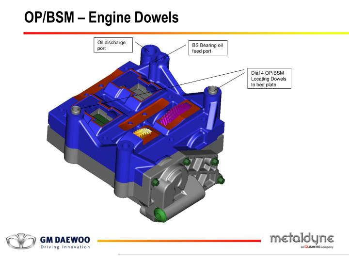 OP/BSM – Engine Dowels