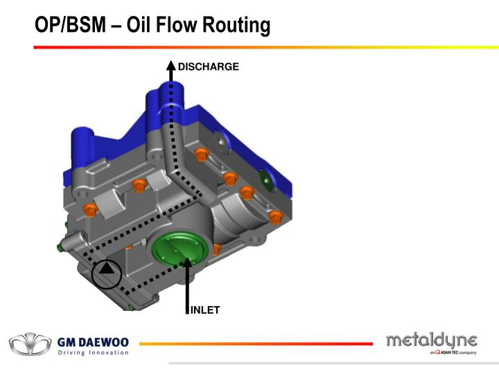 OP/BSM – Oil Flow Routing