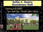 julia a sears residence hall