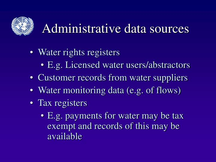 Administrative data sources