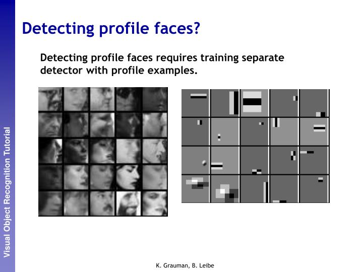 Detecting profile faces?