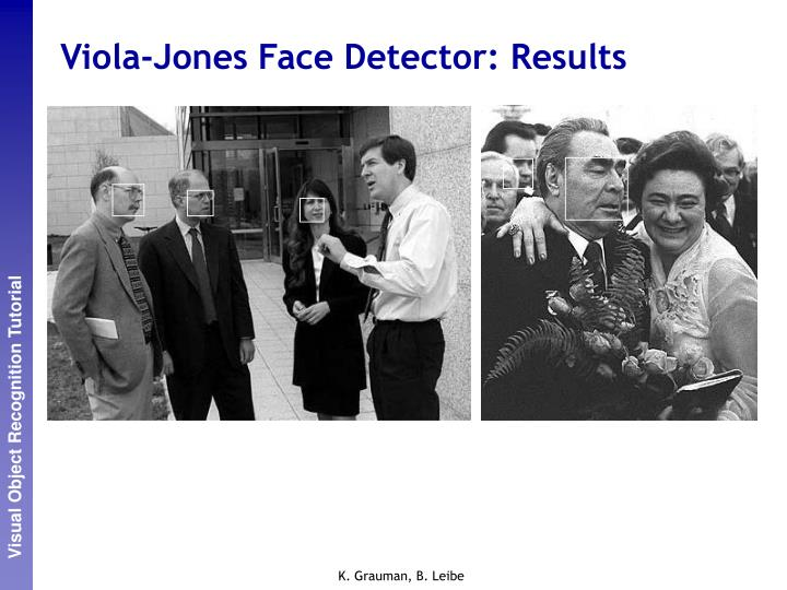 Viola-Jones Face Detector: Results