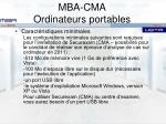 mba cma ordinateurs portables