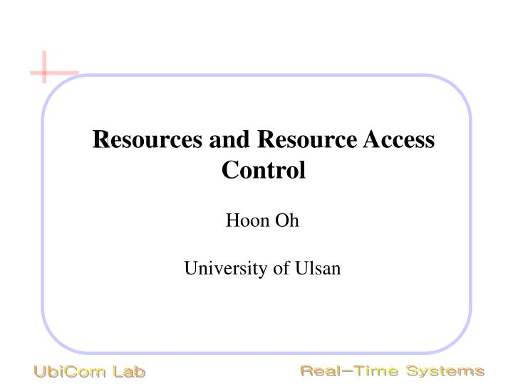 resources and resource access control n.