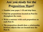 are you ready for the preposition hunt