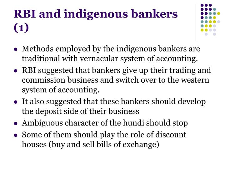 who are indigenous bankers