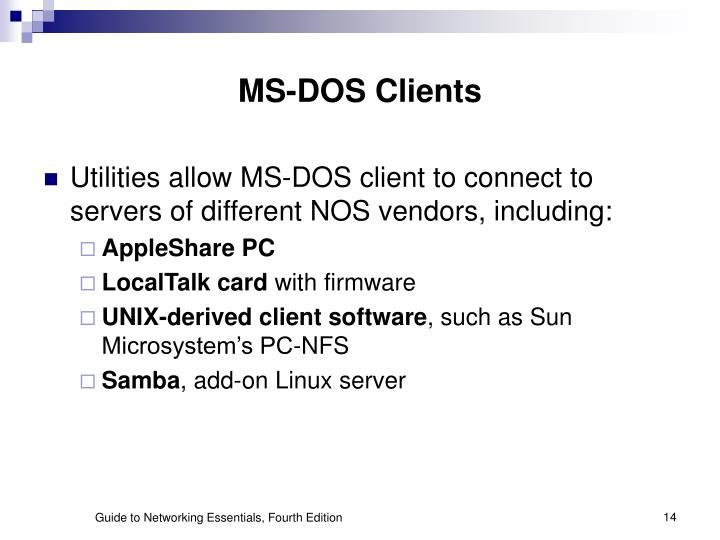 MS-DOS Clients