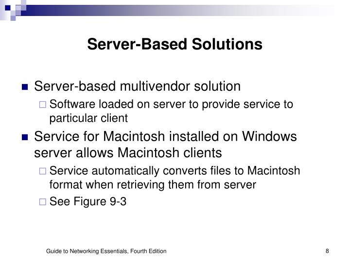 Server-Based Solutions