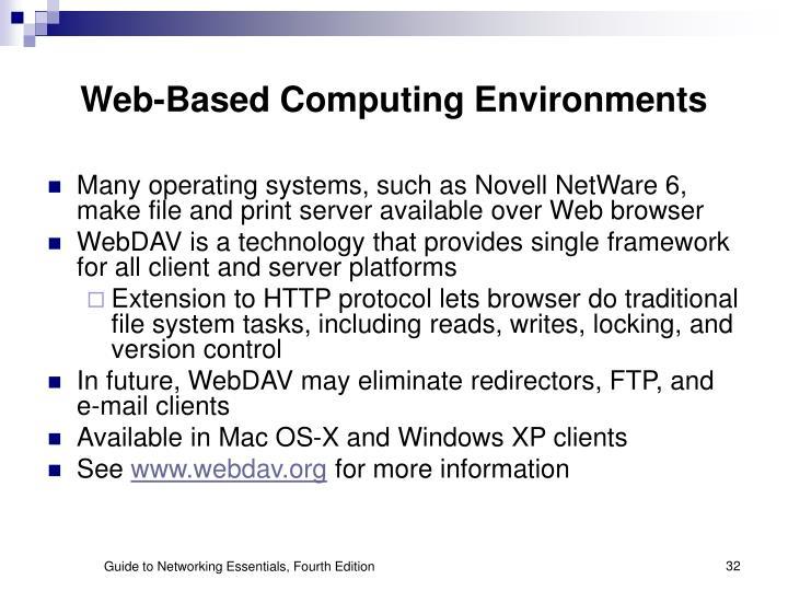 Web-Based Computing Environments