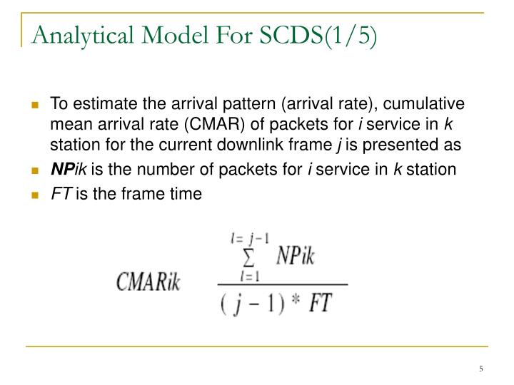 Analytical Model For SCDS(1/5)