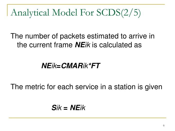 Analytical Model For SCDS(2/5)